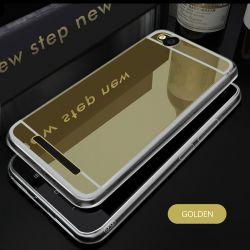 Funda Mirror Gel TPU efecto Espejo para Xiaomi Redmi 4A Dorado