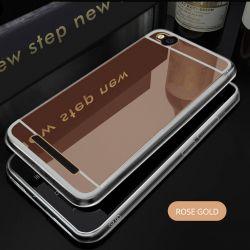 Funda Mirror Gel TPU efecto Espejo para Xiaomi Redmi 4A Oro Rosa