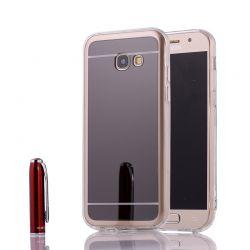 Funda Mirror Gel TPU efecto Espejo para Samsung Galaxy A3 2017 Gris