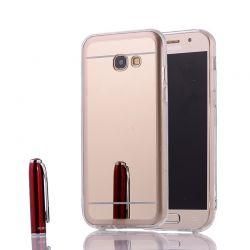Funda Mirror Gel TPU efecto Espejo para Samsung Galaxy A3 2017 Dorado