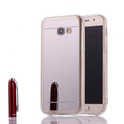 Funda Mirror Gel TPU efecto Espejo para Samsung Galaxy A3 2017 Plata