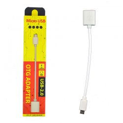 Cable OTG Blanco Micro Usb a USB para Móvil y Tablet Android