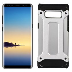 Funda Forcell Armor Tech híbrida para Samsung Galaxy Note 8 Plata