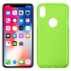 Funda de TPU Mate Lisa para iPhone X Silicona Verde