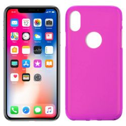 Funda de TPU Mate Lisa para iPhone X Silicona Rosa
