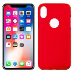 Funda de TPU Mate Lisa para iPhone X Silicona Rojo