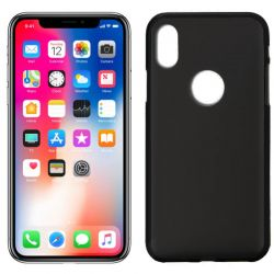 Funda de TPU Mate Lisa para iPhone X Silicona Negro