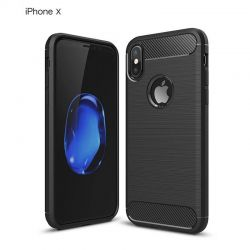 Funda TPU Forcell Carbon con diseño fibra de carbono - iPhone X