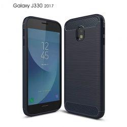 Funda TPU Forcell Carbon fibra de carbono Samsung Galaxy J3 2017 Azul