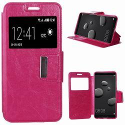 Funda libro Flip Cover Tapa, Ventana y Soporte Huawei Mate 10 Rosa