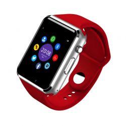 Smartwatch A1 Bluetooth con Cámara, Altavoz, Micrófono y Sim Rojo