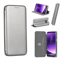 Funda de libro Forcell Elegance - Samsung Galaxy S8 Plus Gris
