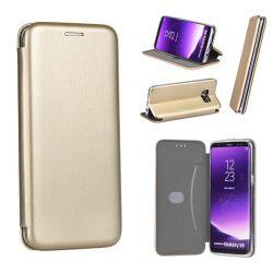 Funda de libro magnético Forcell Elegance - Huawei P10 Dorado
