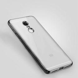 Funda de TPU con Borde Cromado Metalizado Negro - Xiaomi Redmi Note 4X