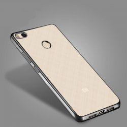 Funda de TPU con Borde Cromado Metalizado Negro - Xiaomi Redmi 4X