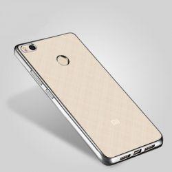 Funda de TPU con Borde Cromado Metalizado Plata - Xiaomi Redmi 4X