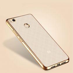 Funda de TPU con Borde Metalizado dorado - Xiaomi Redmi Note 5A Prime