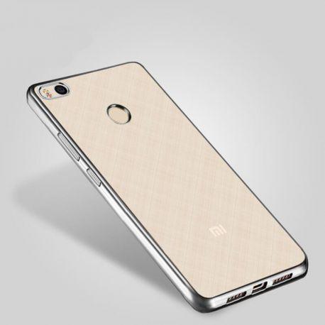 Funda de TPU con Borde Metalizado plata - Xiaomi Redmi Note 5A Prime