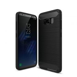 Funda Forcell Carbon tipo fibra de carbono Samsung Galaxy S8