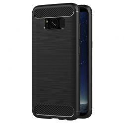 Funda TPU Forcell Carbon tipo fibra de carbono, Samsung Galaxy S8 Plus
