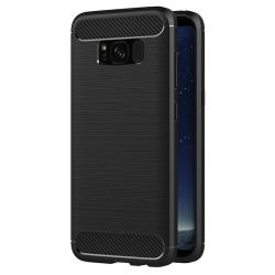 Funda Forcell Carbon tipo fibra de carbono, Samsung Galaxy S8 Plus
