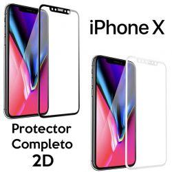 Protector de pantalla de Cristal Templado 2D Completo para iPhone X