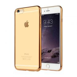 Funda de TPU con Borde Cromado Metalizado Oro - iPhone 6 Plus