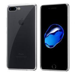 Funda de TPU con Borde Cromado Metalizado Plata - iPhone 7 Plus