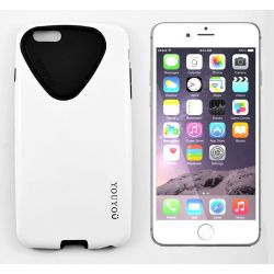FUNDA HYBRID YOUYOU TPU Y PC IPHONE 6 PLUS y 6S PLUS BLANCO