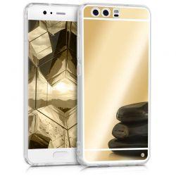 Funda Mirror Gel TPU efecto Espejo Huawei P10 Dorado