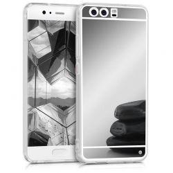 Funda Mirror Gel TPU efecto Espejo Huawei P10 Gris Plata