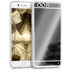Funda Mirror Gel TPU efecto Espejo Huawei P10 Gris
