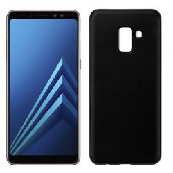 Funda TPU Mate Lisa Samsung Galaxy A8 2018 Silicona Flexible Negro
