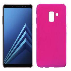 Funda TPU Mate Lisa Samsung Galaxy A8 2018 Silicona Flexible Rosa