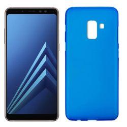 Funda TPU Mate Lisa Samsung Galaxy A8 2018 Silicona Flexible Azul