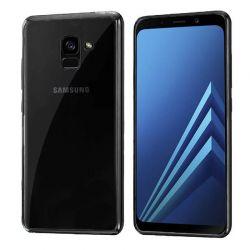 Funda de TPU Borde Cromado Metalizado Negro - Samsung Galaxy A8 2018