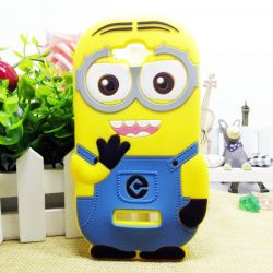 Funda 3D de Silicona Minion Amarillo para Alcatel OT Pop C7