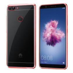 Funda de TPU con Borde Cromado Metalizado Oro Rosa - Huawei P Smart
