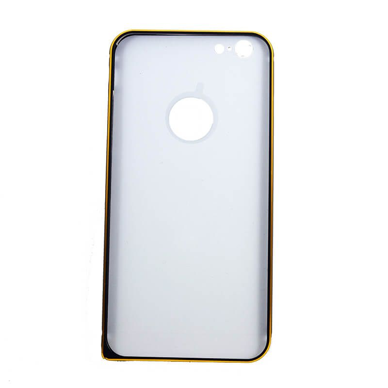 17113e0427c ... Funda metálica bumper y trasera policarbonato iPhone 6 Plus, 6S Plus  negro