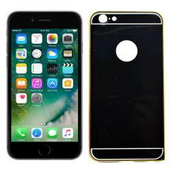 Funda metálica bumper y trasera policarbonato iPhone 6, 6S negro