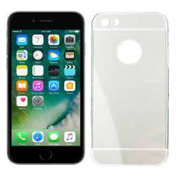 Funda metálica bumper y trasera policarbonato iPhone 6, 6S Plata