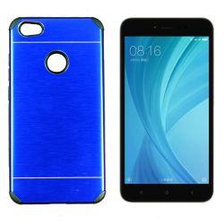 Funda trasera Metal, Aluminio y TPU Azul - Xiaomi Redmi Note 5A Prime