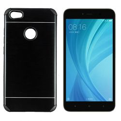 Funda trasera Metal, Aluminio y TPU Negro - Xiaomi Redmi Note 5A Prime