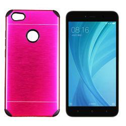 Funda trasera Metal, Aluminio y TPU Rosa - Xiaomi Redmi Note 5A Prime