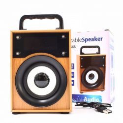 Altavoz Bluetooth 5W Madera Marrón, Radio FM y MP3 con USB y Micro SD
