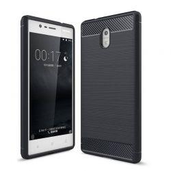 Funda TPU Forcell Carbon con diseño fibra de carbono - Nokia 3