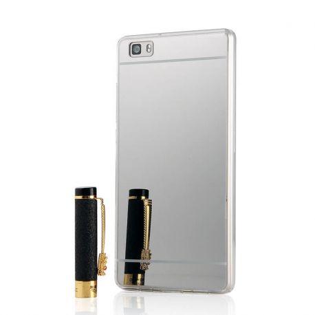 Funda Mirror Gel TPU efecto Espejo Huawei P8 Lite Plata