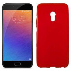 Funda de TPU Mate Lisa para Meizu Pro 6 Silicona Flexible Rojo