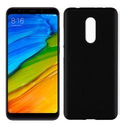 Funda de Silicona Mate y Lisa para Xiaomi Redmi 5 Negro
