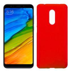 Funda de Silicona Mate y Lisa para Xiaomi Redmi 5 Rojo
